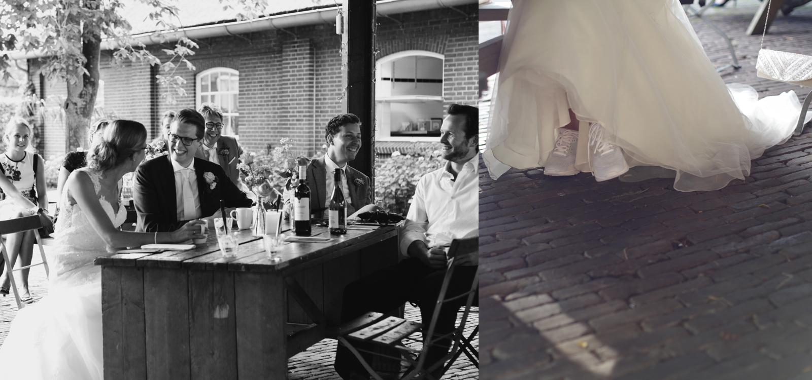 Spontane trouwfotografie door een trouwfotograaf uit Amsterdam.