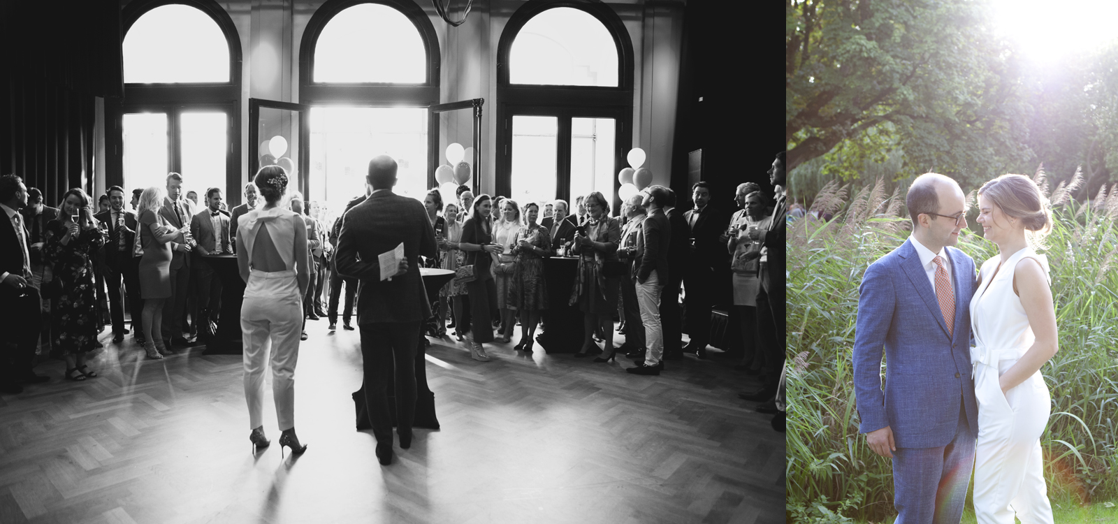 Wedding in the Vondelpark of Amsterdam. Photography by a professional wedding photographer